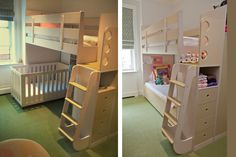 not really our style but very neat concept. like how enclosed the top bunk is.