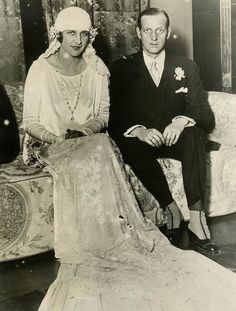 Audrey Emery and Grand Duke Dmitri Pavlovich. 1926.....Dmitri was brought up by Sergei and Ella and was one of those   involved in the murder of Rasputin