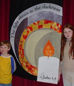 Hope Advent Banner - youth Sunday School project - iron on fabric on felt
