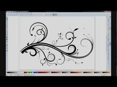 Creating your own flourishes & swirls using Inkscape! I LOVE flourishes & swirls! <3