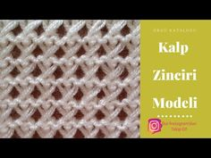 #9 Kalp Zinciri Örgü Modeli - Örgü Modelleri / Knitting Patterns (subtitles available) - YouTube