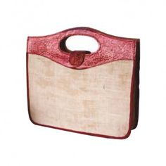 Conference Bag with enough space made from Jute and Leather Lining