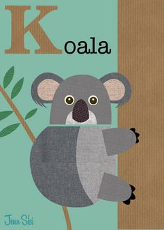 Clear example of digital texture in a print. However, this texture is perhaps TOO REGULAR/GEOMETRIC. Thus it loses a natural effect. Kangaroo Illustration, Australian Flags, Australian Bush, Alphabet Pictures, Baby Quiet Book, Digital Texture, Alphabet Cards, Nursery Prints, Kids Cards