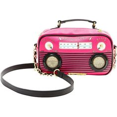 Betsey Johnson Kitsch Boom Box Crossbody ($98) ❤ liked on Polyvore featuring bags, handbags, shoulder bags, fuchsia, white purse, white shoulder bag, crossbody shoulder bags, wristlet purse and wristlet crossbody