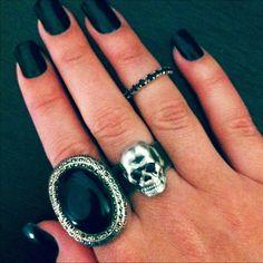 #aneis #rock #black #raquelbraga