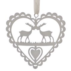 Create a contemporary Christmas tree this year with this unique reindeer hanging decoration