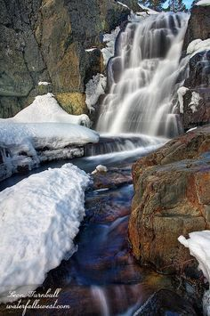 Upper Glen Alpine Falls Tahoe area California - Leon Turnbull