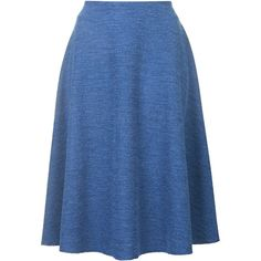 TOPSHOP **Domina Midi Skirt by Jovonna (280 BRL) ❤ liked on Polyvore featuring skirts, blue, mid-calf skirt, blue midi skirt, midi skirt, calf length skirts and blue skirt