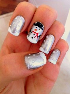 Cute snowman with silver