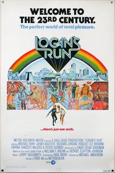 Logan's Run (1976) - one sheet poster - international - Charles Moll artwork