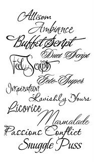 Collection of perfect wedding fonts to be used on menus, invitations and more. Calligraphy Fonts, Typography Fonts, Hand Lettering, Cursive Fonts, Handwriting Fonts, Creative Lettering, Lettering Tutorial, Lettering Styles, Font Styles