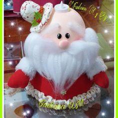 Christmas Ideas, Christmas Ornaments, Ideas Para, Santa, Holiday Decor, Instagram, Home Decor, Cold Porcelain, Cases