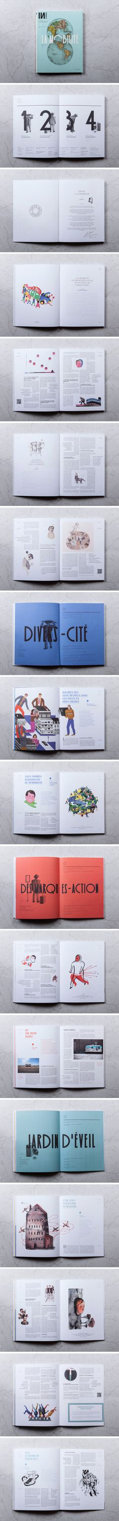INFLUENCIA N°3 - LA MOBILITÉ | so interesting and beautiful; the illustrations are lovely, and all the white space is nice
