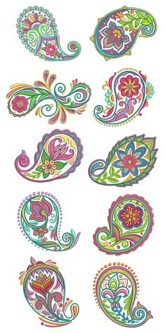 Perfect Paisley Machine Embroidery Designs by JuJu Bordado Paisley, Motif Paisley, Paisley Art, Paisley Design, Paisley Pattern, Pattern Art, Pattern Design, Paisley Flower, Motif Design