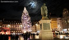 Christmas tree at Place Kléber in Strasbourg in France