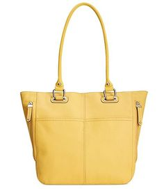 Tignanello Handbag, Pebble Leather Pocket Tote - Available at Macy's! More colors available.
