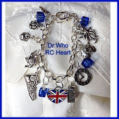 Doctor Who Tribute  Charm Bracelet Tardis by Uberjewelrydesigns, $26.00