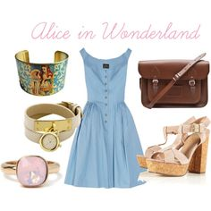 Alice in Wonderland, created by johannahelise on Polyvore
