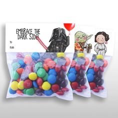 Star Wars Birthday Treat Bag Toppers. Thank your guests for coming with the…