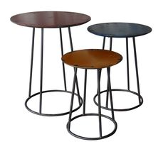Metal End Table Set Of Three