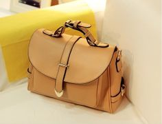 Brown preppy style tote bags shoulder satchels shoulder by starbag, $53.28
