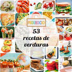 53 recetas de verduras para niños y para toda la familia. No te pierdas estas recetas de verduras variadas, originales y divertidas.