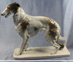 rare Barsoi sighthound Figurine porcelain Ens 1950 dogfigurine borzoi r