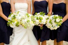Malloy Events at Chatham Bars Inn, Cape Cod MA. green and white bouquets