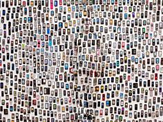 Chinese artist Liu Bolin paints his entire body to exactly match the scenery behind him. He is camouflaged so well it is sometimes almost impossible to spot him. His latest exhibition, Hiding in the City, at the Eli Klein Fine Art gallery in New York , shows him melting into various urban backdrops, including a picture of a variety of mobile phones.