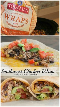 Made It. Ate It. Loved It.: Southwest Chicken Wraps