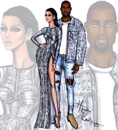 Met Gala 2016 by Hayden Williams Anna Wintour in Chanel Couture Kim Kardashian…