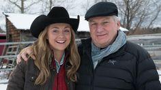 Amber with director Dean Bennett