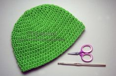 Crochet Basic Beanie half double crochet; great basic hat in multiple sizes