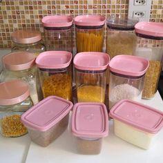 Kitchen Organisation, Diy Kitchen Storage, Pink Home Decor, Cute Home Decor, Cute Kitchen, Kitchen Decor, Kawaii Room, Cute House, Pink Houses