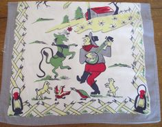 Vintage Kitchen Towel Country Western Farmer  by AStringorTwo, $14.00