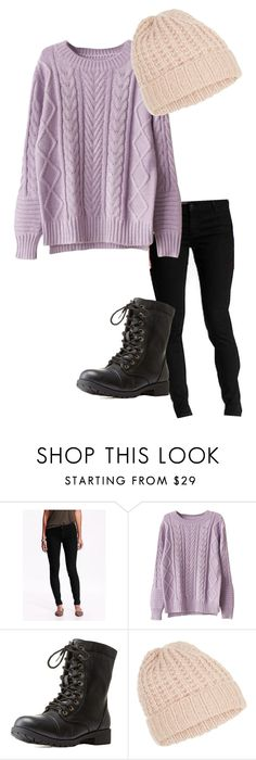 """""""OOTD #1 12/31/15"""" by music-is-my-therapy ❤ liked on Polyvore featuring Old Navy, Charlotte Russe, Accessorize, Boots, skinnyjeans, sweaterweather and blackjeans"""
