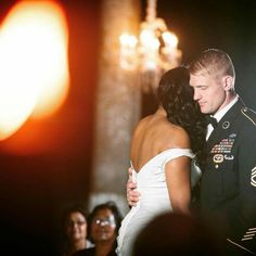 Beautiful interracial military couple dancing for the first time as husband and wife Interracial Family, Interracial Marriage, Interracial Wedding, Beautiful Love, Beautiful Couple, Absolutely Gorgeous, Wedding Couples, Cute Couples, Mixed Couples