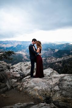 Lost Gulch Lookout Engagement Session // Morgan & Dave via Rocky Mountain Bride