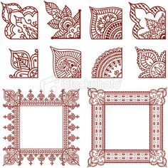 :::: ✿⊱╮☼ ☾ PINTEREST.COM christiancross ☀❤•♥•* :::: corner designs #mehndi #henna