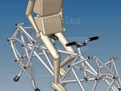 walking cycle theo jansen mechanism - YouTube