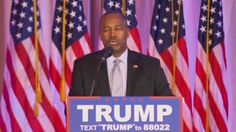"""Ben Carson cracked open an awkward conversation for Donald Trump as he threw his backing behind his former rival and justified the move by saying, """"There are two different Donald Trumps."""""""