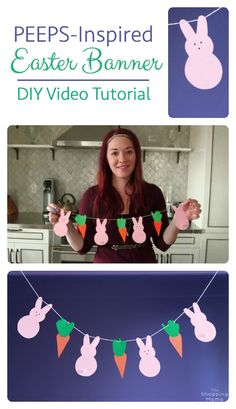 Craft Corner: Easter Peep DIY Banner Video Tutorial | The Shopping Mama