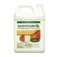 Wet Look High Gloss Masonry and Wood Water Sealer 1 Gal for Decks, Porches, Patios, Pavers