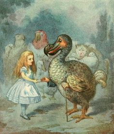 Alice and the Dodo bird from ALice in Wonderland, by Harry G Theaker (1911)