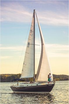 Sailboat Engagement Picture in Knoxville TN at Concord Yacht Club - click to view more! #sailboat #nautical #yacht