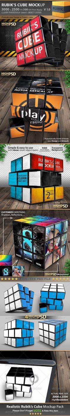 Rubik's Cube Mockup Pack V1