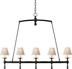 CLASSIC LINEAR CHANDELIER in stock in all finishes half as much $ as the oval & rectangular