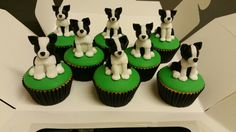 Border Collie Dog Cupcakes