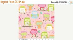 ChristmasinJuly Owl and Co. C4940 Pink Owls Riley Blake Designs