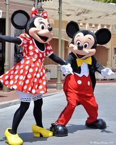 The Mice, Mickey and Minnie #Disneyland